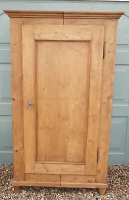 Antique Pine Wardrobe (Splits In 2 Halves For Easy Lifting)