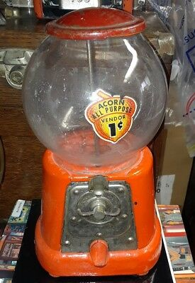 Advance Gumball Vending Machine Vendor Penny Coin Operated