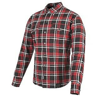 Speed & Strength Black 9 Mens Long Sleeve Button Up Shirt Red/Black