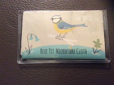 *brand New* Blue Tit  Glasses Microfibre Cleaning Cloth - Dotcomgiftshop
