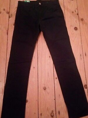 BNWT Benetton navy skinny trousers age 10/11