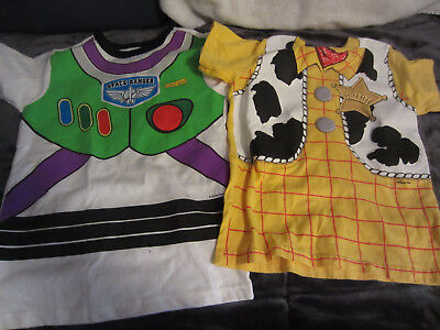 Disney Pixar Toy Story Lot Buzz And Woody Xs T-Shirts-Pre-Owned