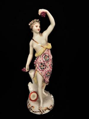 ANTIQUE SAMSON PARIS PORCELAIN LADY GODDESS  & GRAPES FIGURINE 1880's