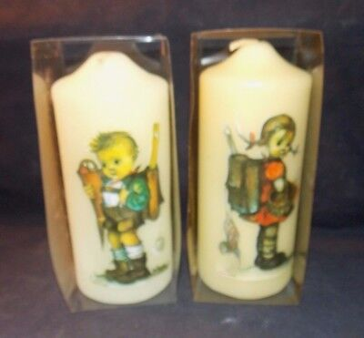 "RARE 2 Vintage Hummel Candles tagged & original boxes! 4 1/2"" Tall  West Germany"