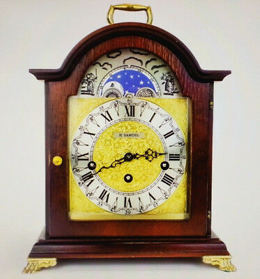 Beautiful Condition Moonphase Hermle Westminster Chimes 1984 Mantel Clock