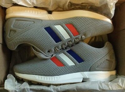 Adidas ZX Flux Torsion Trainers Grey Tri-color Size UK 5 Brand New In Box