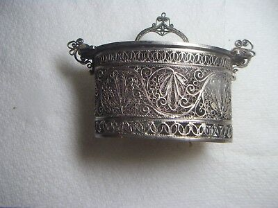Antique Norwegian Filigree  Box