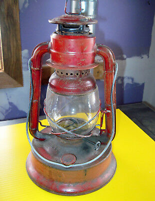 Dietz LITTLE Giant NY-US 70 Hour FOUNT Red LANTERN nr No 10 E camping glass