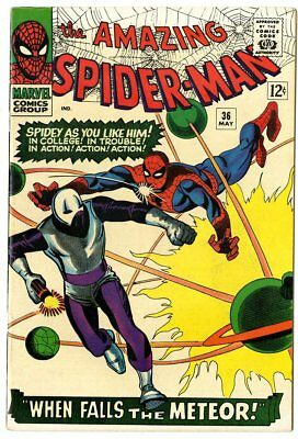 Amazing Spider-Man #36 NM- 9.2 white pages  1st app. The Looter  Marvel  1966