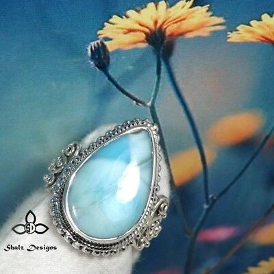 925 Silver Plated Moonstone CZ Woman Man Gemstone Gift Fashion Ring Size 6-10