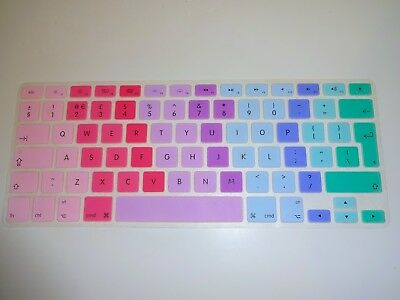 Mac Silicone Colourful Keyboard Protector. Pastel Shades