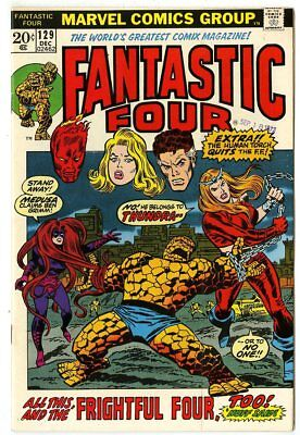 Fantastic Four #129 NM- 9.2 ow/white pages  vs. The Frightful Four  Marvel  1972
