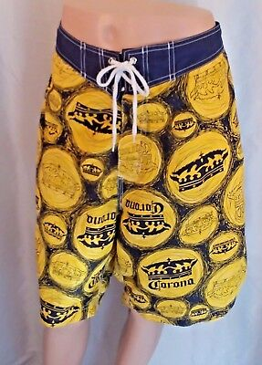CORONA Extra Beer Lover Gift! Board Shorts Swim Trunks Beach Pool Surfer Size 38
