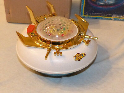 Yonezawa 37003 Flying Saucer UFO Battery Operated Japan 70er Jahre in Box Space