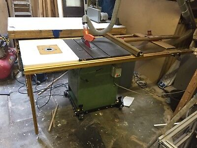 Startrite 275 Table Saw With Incra Precision Fence System With Router Table.