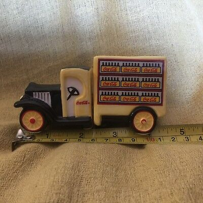 Coca-Cola Collectible Ceramic Delivery Truck Salt and Pepper Shakers