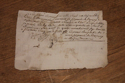 1765 rare french manuscript letter signed by seigneury accounting officer