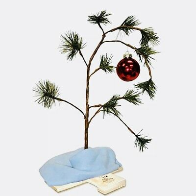 Peanuts Charlie Brown Christmas Tree with Linus Blanket and Ornament 18 inch