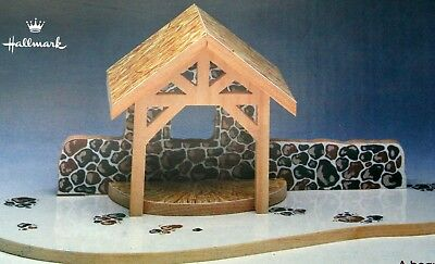 1988 Hallmark Christmas Merry Miniatures Nativity Manger Stable NOS Boxed
