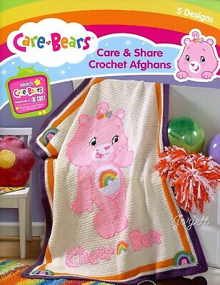 Care Bears Afghans 6 Patterns Crochetcross Stitch Blankets Craft