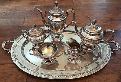 Towle Old Master Sterling Silver Coffee / Tea Set Plus Large Waiter Tray