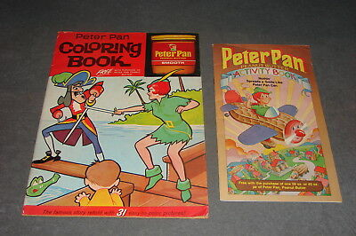 Peter Pan Peanut Butter Coloring Book 1963 + Activity Book 1983 [Uncolored]