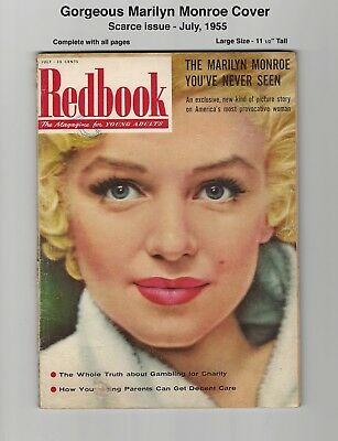 Redbook - Gorgeous Marilyn Monroe Cover & Beautiful Pictures - 1955