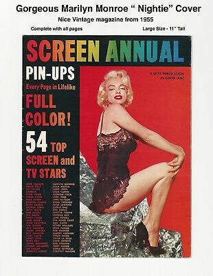 Screen Annual - Gorgeous Marilyn Monroe Cover - 1955 - Beautiful Interior Pics!