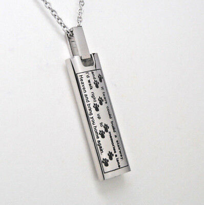 "Cremation Urn Necklace, ""If Tears Could Build A Stairway"" Verse 