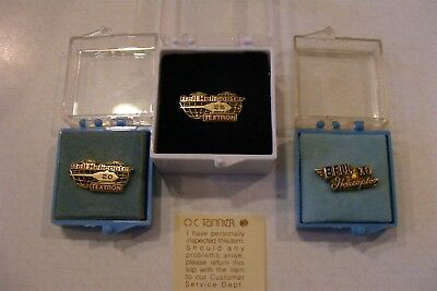 lot of Vintage Bell Helicopter service pins all in 10K Gold 10, 20 and 25