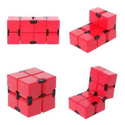 Infinity Cube Mini Version Stress Relief Fidget Red Funny Anti Anxiety Toy