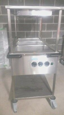 Brand New Never Used - Mobile Bain Marie with Heated Shelving/Lamp Warmers x 2