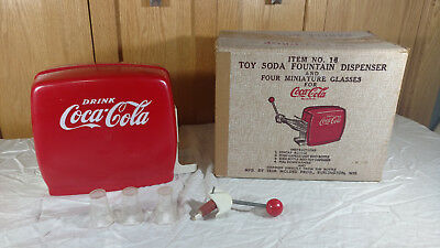 Vintage Coca Cola Toy Soda Fountain Dispenser With Original Box NR