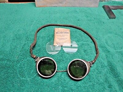 Vintage Bakelite Welding Safety Goggles Steam Punk Steampunk Tint & Clear Lenses