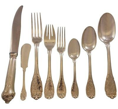 Elysee by Puiforcat French Sterling Silver Flatware Service Set 32 pcs Dinner