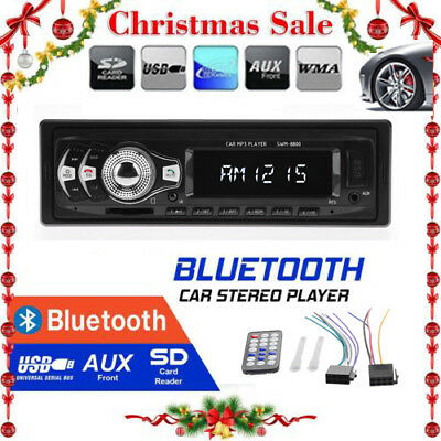 12V Car MP3 Audio Player FM Radio Bluetooth Hands-free Call SD/USB AUX Stereo