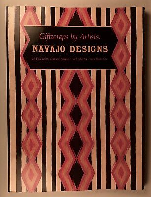 """""""GIFTWRAPS by ARTISTS - NAVAJO DESIGNS"""", 1991 - MUSEUM of INDIAN ARTS & CULTURE"""