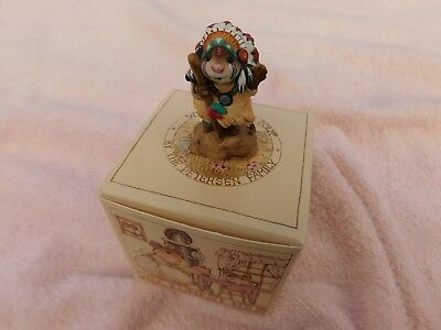 """Wee Forest Folk """" CHIEF GERONIMOUSE """" M-107a - Mint - W/Orig. Box - 1983 - 1995"""