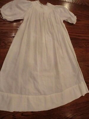 vtg white long baby christening dress (lot 4)