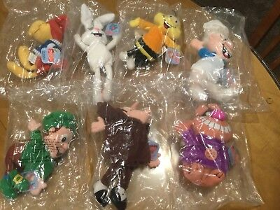 General Mills' Breakfast Babies Beanie Plush Pals Complete Set Of 7 1997 New