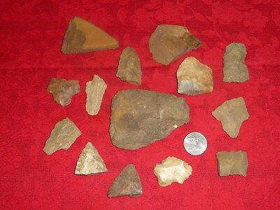 Native American Artifacts Lot Arrowheads Pottery