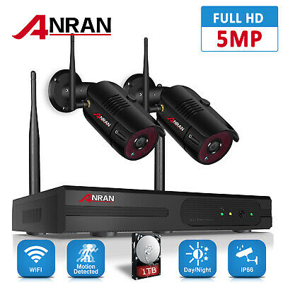 Wireless Security Camera System 1080P HD 4CH WIFI NVR Kit Home CCTV Outdoor 1TB