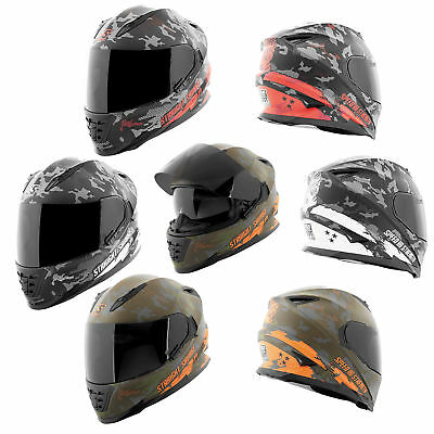 f2f8a028 Speed and Strength SS1600 Straight Savage Full Face Helmet w/ Drop Down Sun  Shld