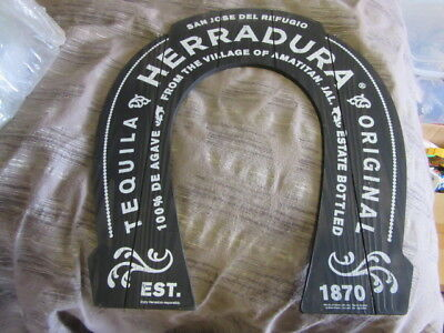 New Herradura Tequila Lucky Horseshoe Sign Est 1870 Amatitan Jal Bar Rare Tavern