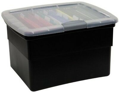 Top Quality Organizer Your Office Snap Lock File Box in Black