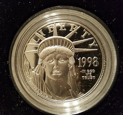 1998 W American Eagle one ounce platinum proof $100 LTNC coin with OP & COA