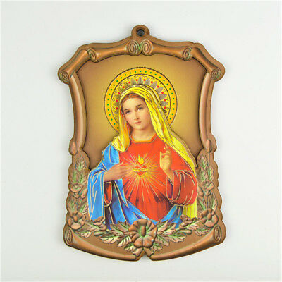 Wooden Religious Holy Sacred Heart Mother Picture Saint Picture Wall Plaques