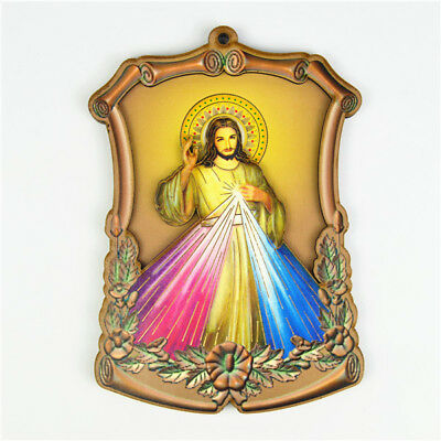 Wooden Religious Holy Jesus Divine Mercy Catholic Saint Picture Wall Plaques