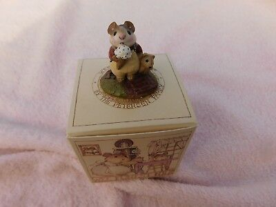 """Wee Forest Folk """" MOUSEY'S CONE """"  M-100 - Mint - W/Orig.Box - 1983-1994 - Cute"""