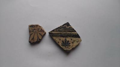 lot of 2 Fractures of Red figure Greek pottery